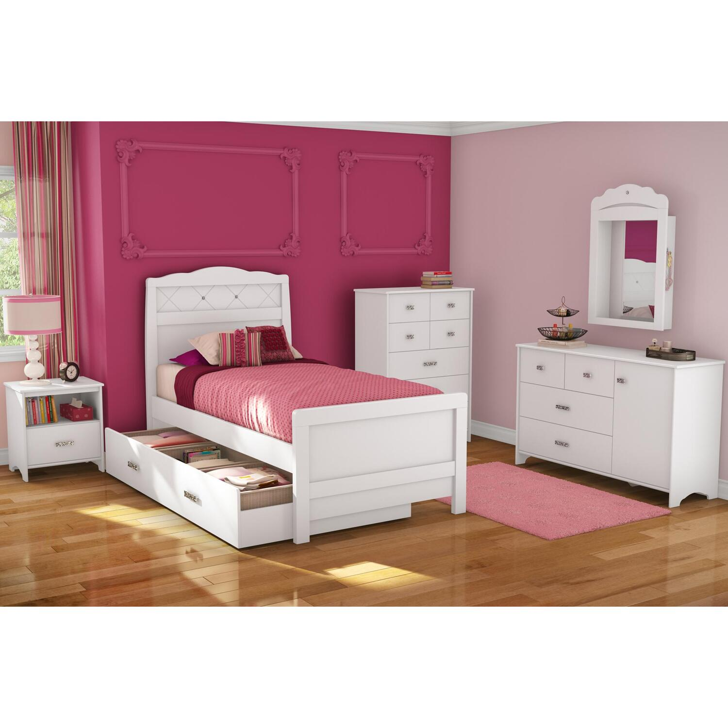 tiara twin w trundle 6 piece bedroom set by oj commerce