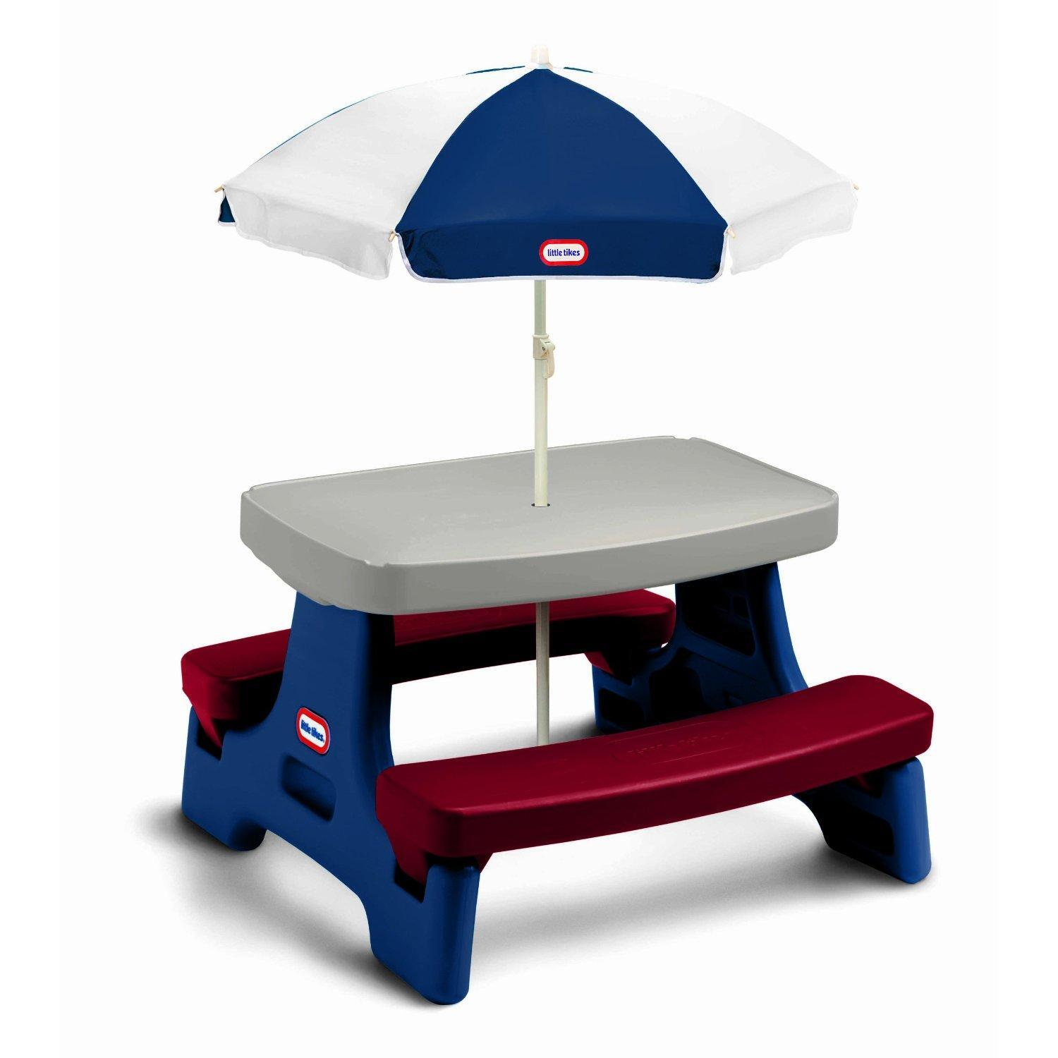 Little Tikes Junior Picnic Table : Little tikes endless adventures easy store jr table with