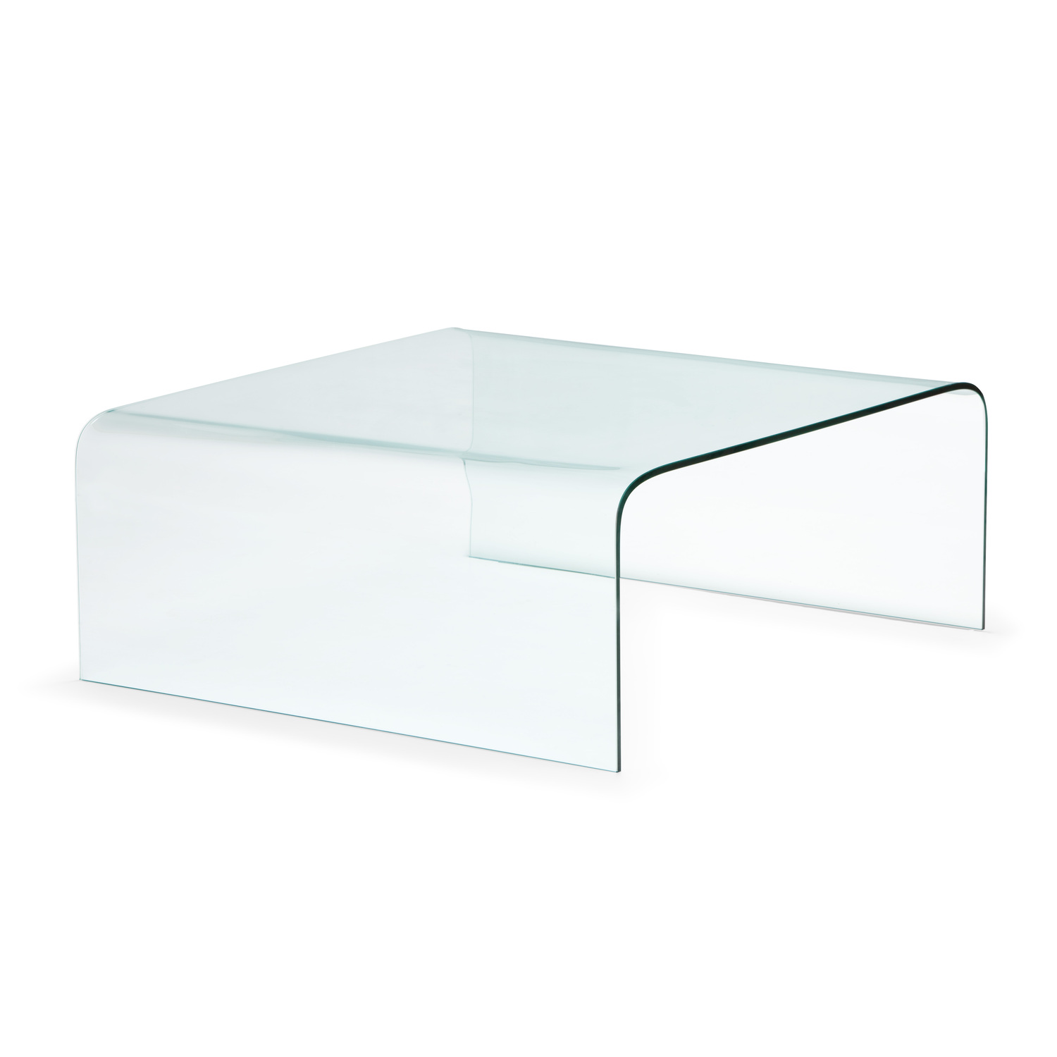 Zuo modern sojourn coffee table tempered glass by oj for Glass furniture
