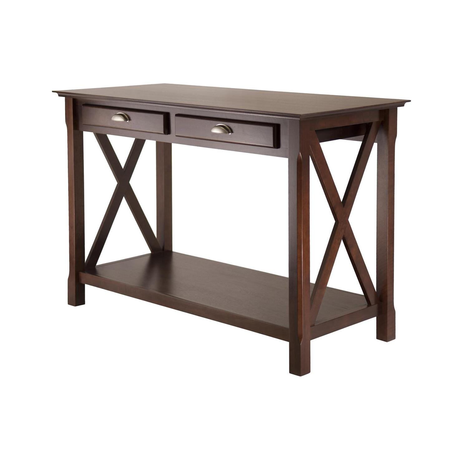 winsome xola console table with 2 drawers by oj commerce