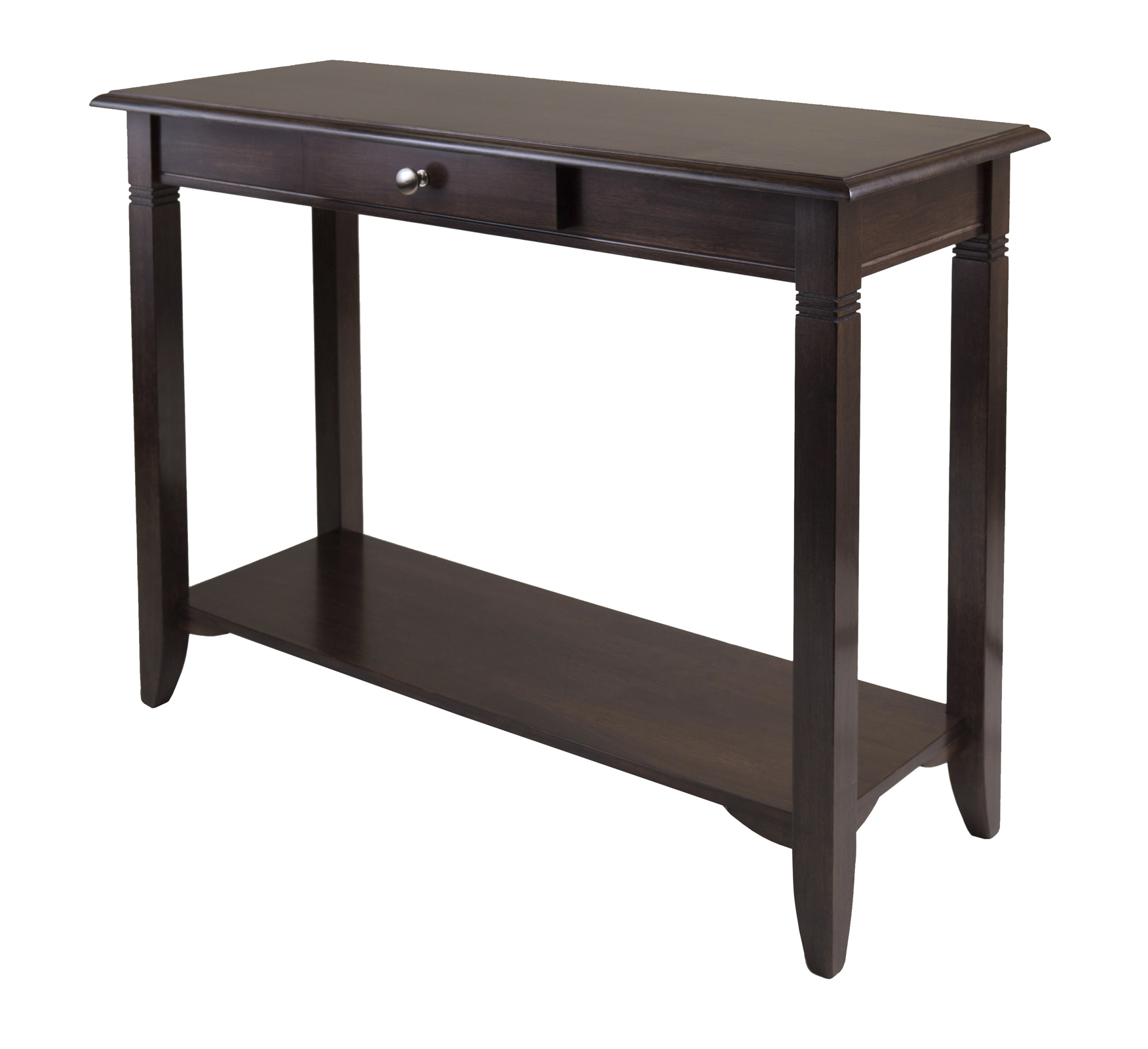 Marvelous photograph of Nolan Console Table with Drawer with #3A302E color and 1752x1600 pixels
