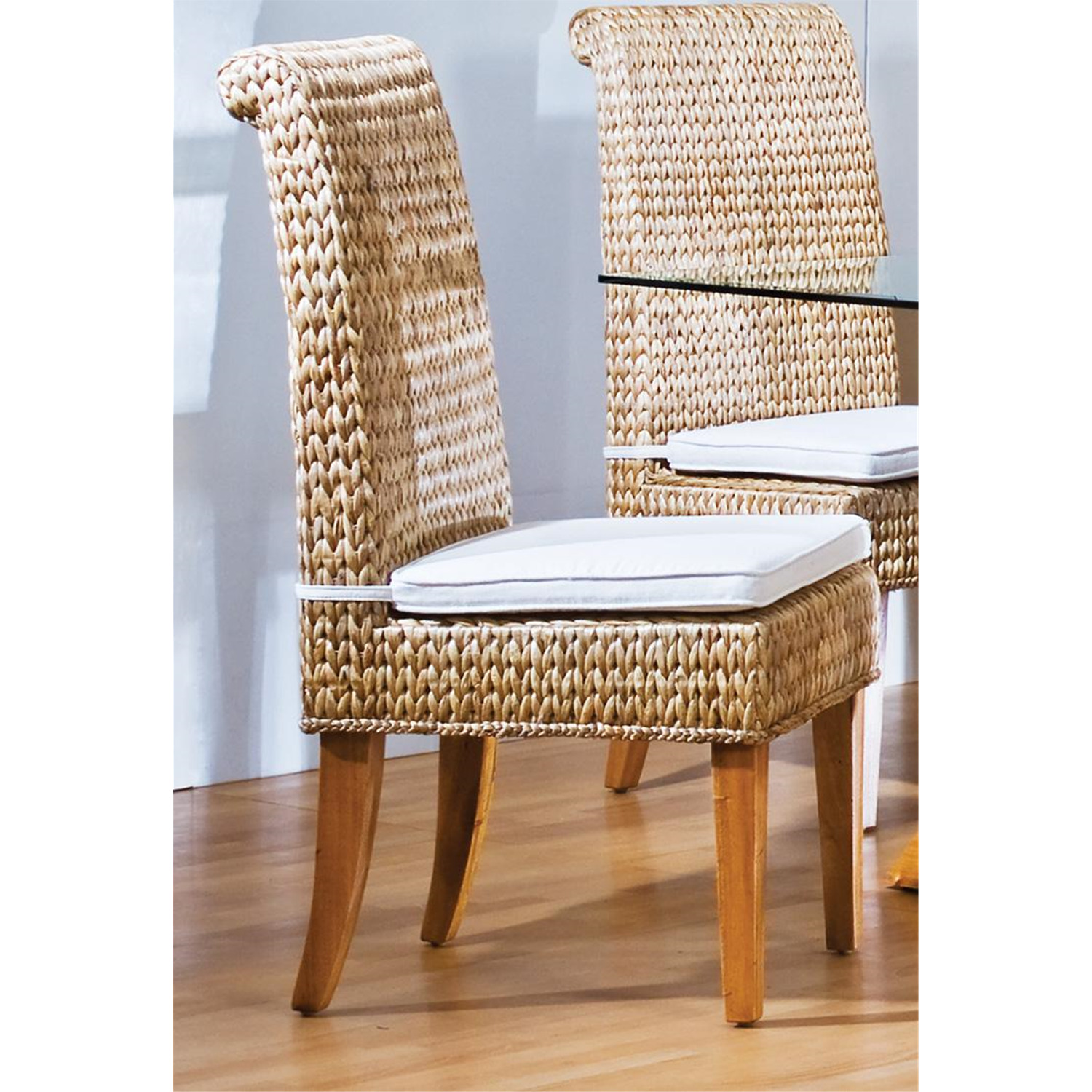 hospitality rattan indoor side chair with cushion by oj commerce 406