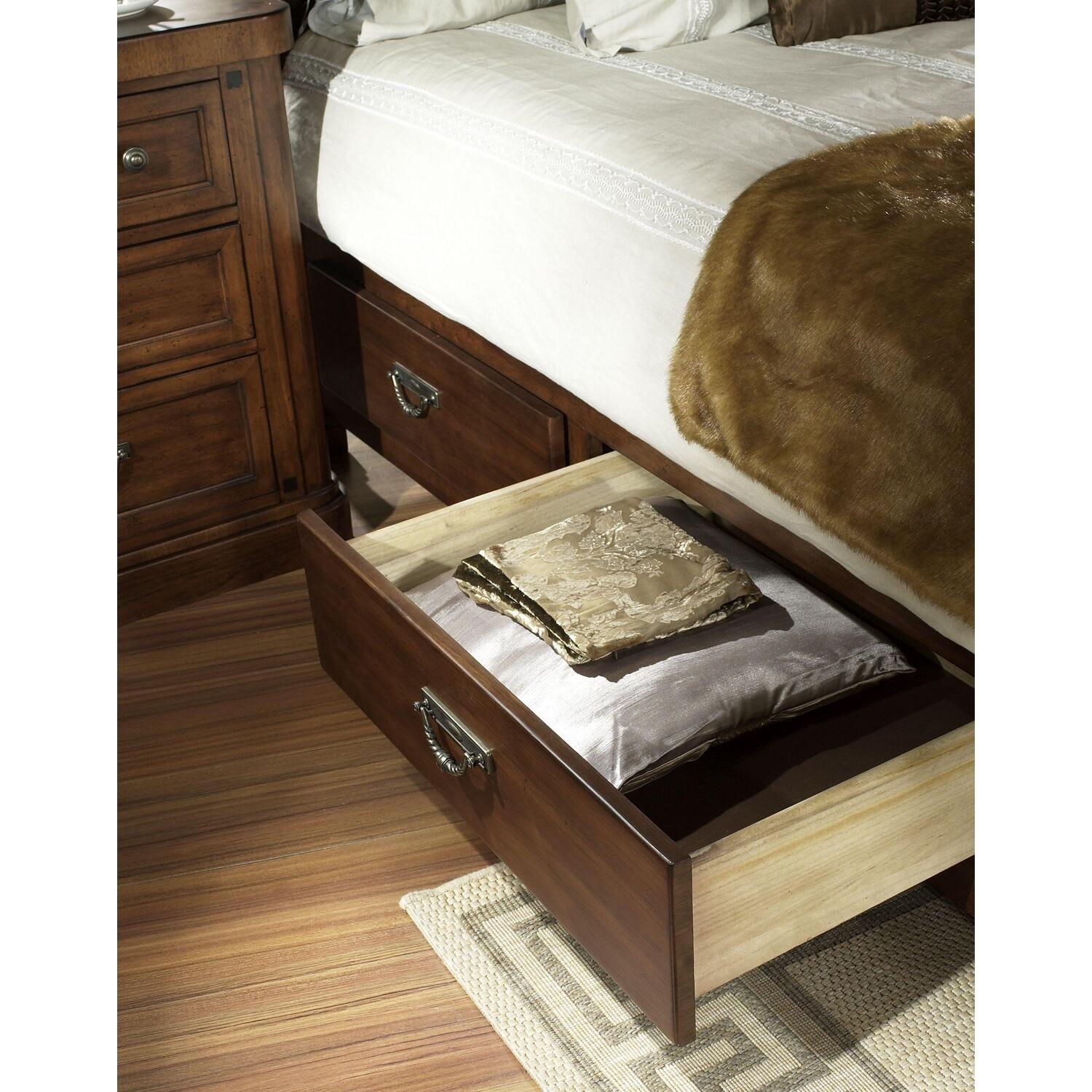 Somerton barrington california king panel bed with drawers by oj commerce p420 52dc 1 - Cal king bed with drawers ...