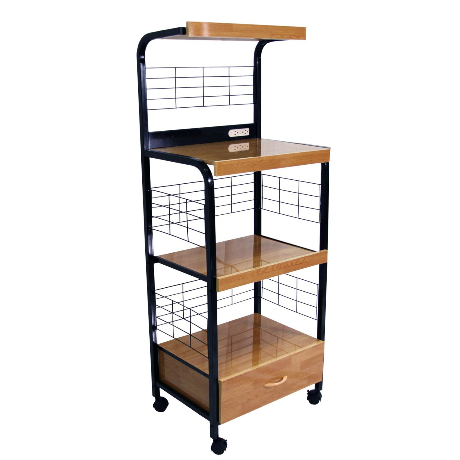 Home source metal microwave cart by oj commerce for Home source