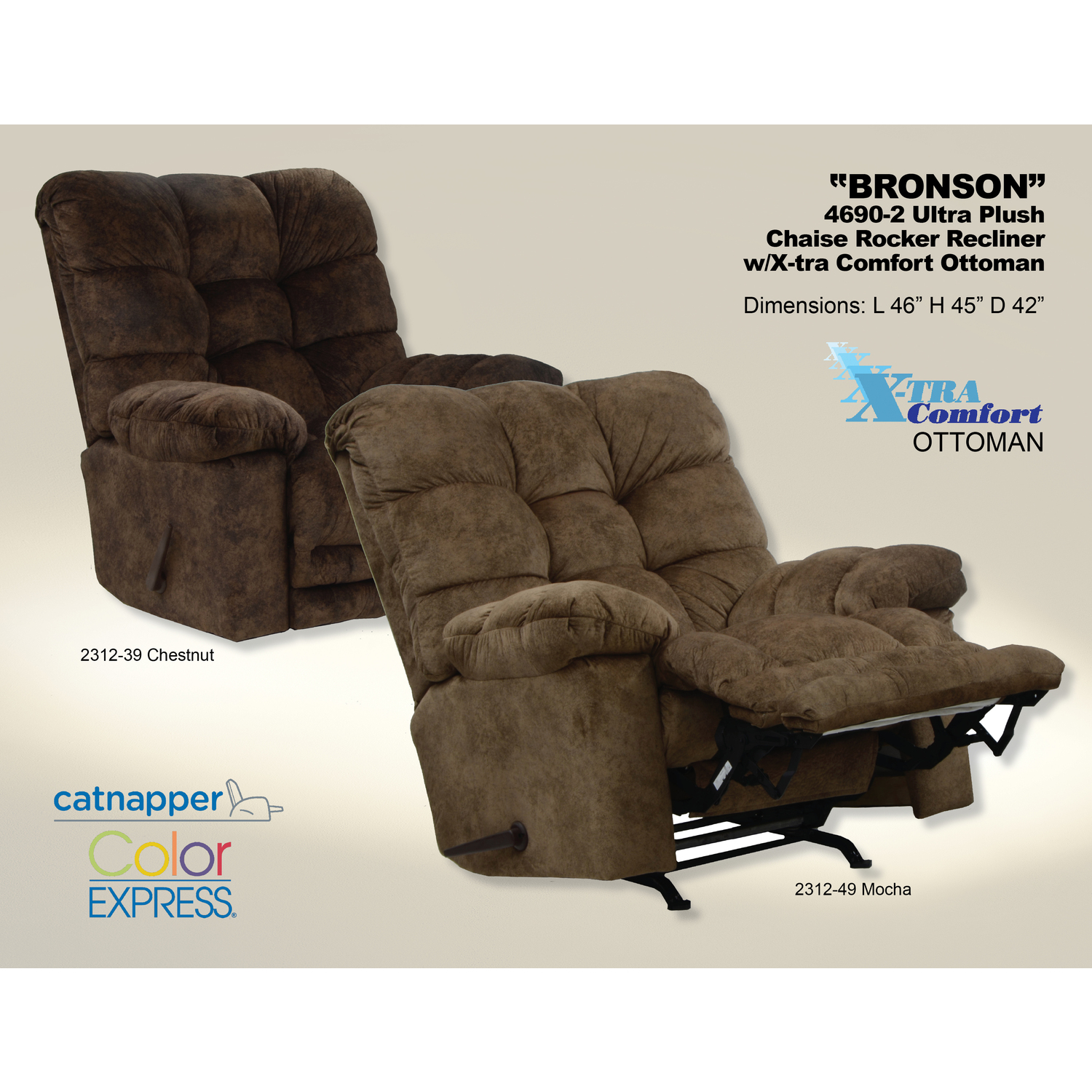 Catnapper Bronson Recliner By Oj Commerce 669 00