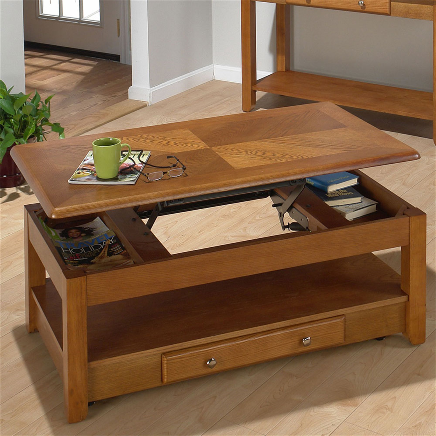 Jofran Sedona Oak Lift Top Cocktail Table By Oj Commerce 480 1