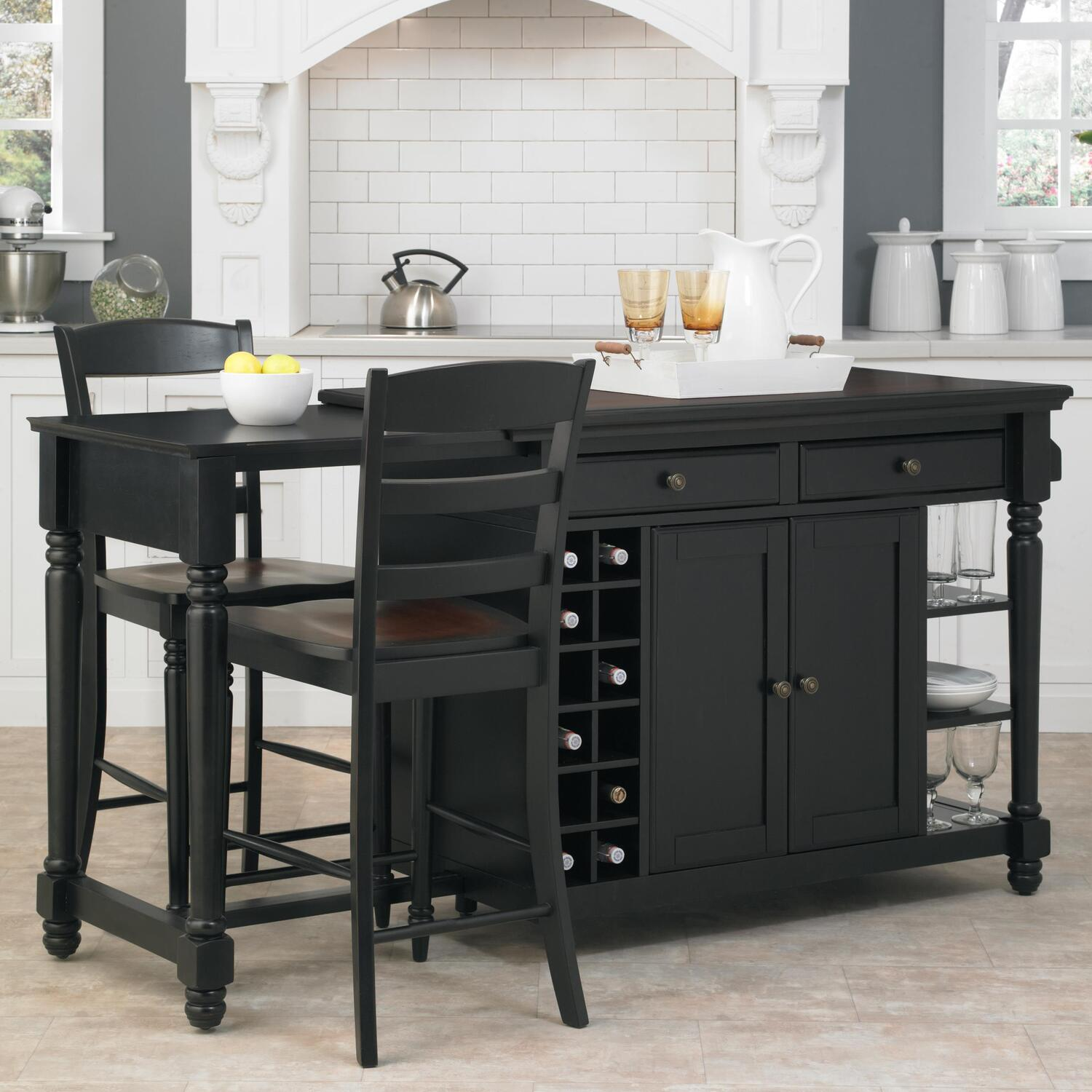 Home Styles Grand Torino Kitchen Island Two Stools By Oj Commerce 5012 948