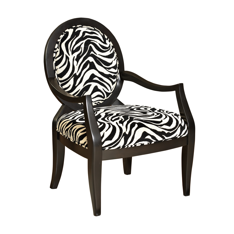 Powell Zebra Oval Back Accent Chair by OJ merce 502 936