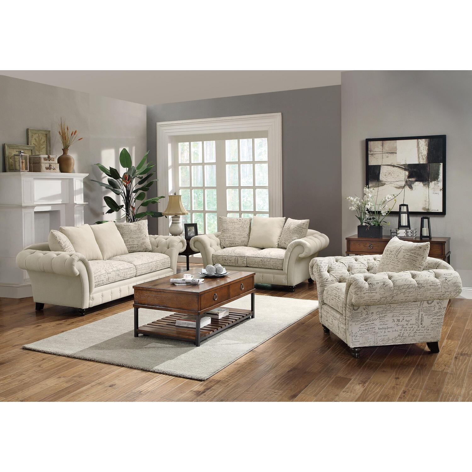 Hollywood Home Willow Living Room Set By Oj Commerce