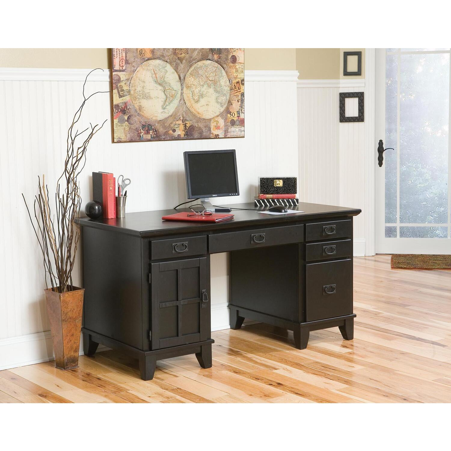 Home styles arts and crafts pedestal desk by oj commerce 860 04