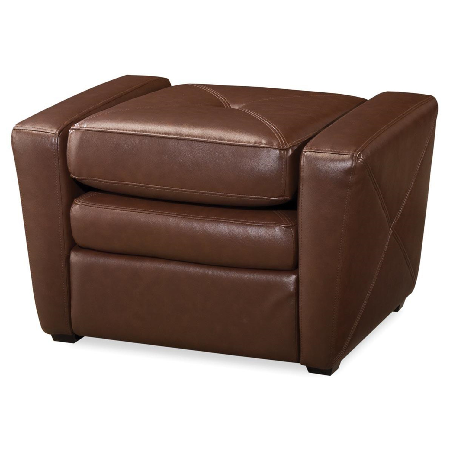 Home styles brown vinyl gaming chair ottoman by oj for Chair ottoman