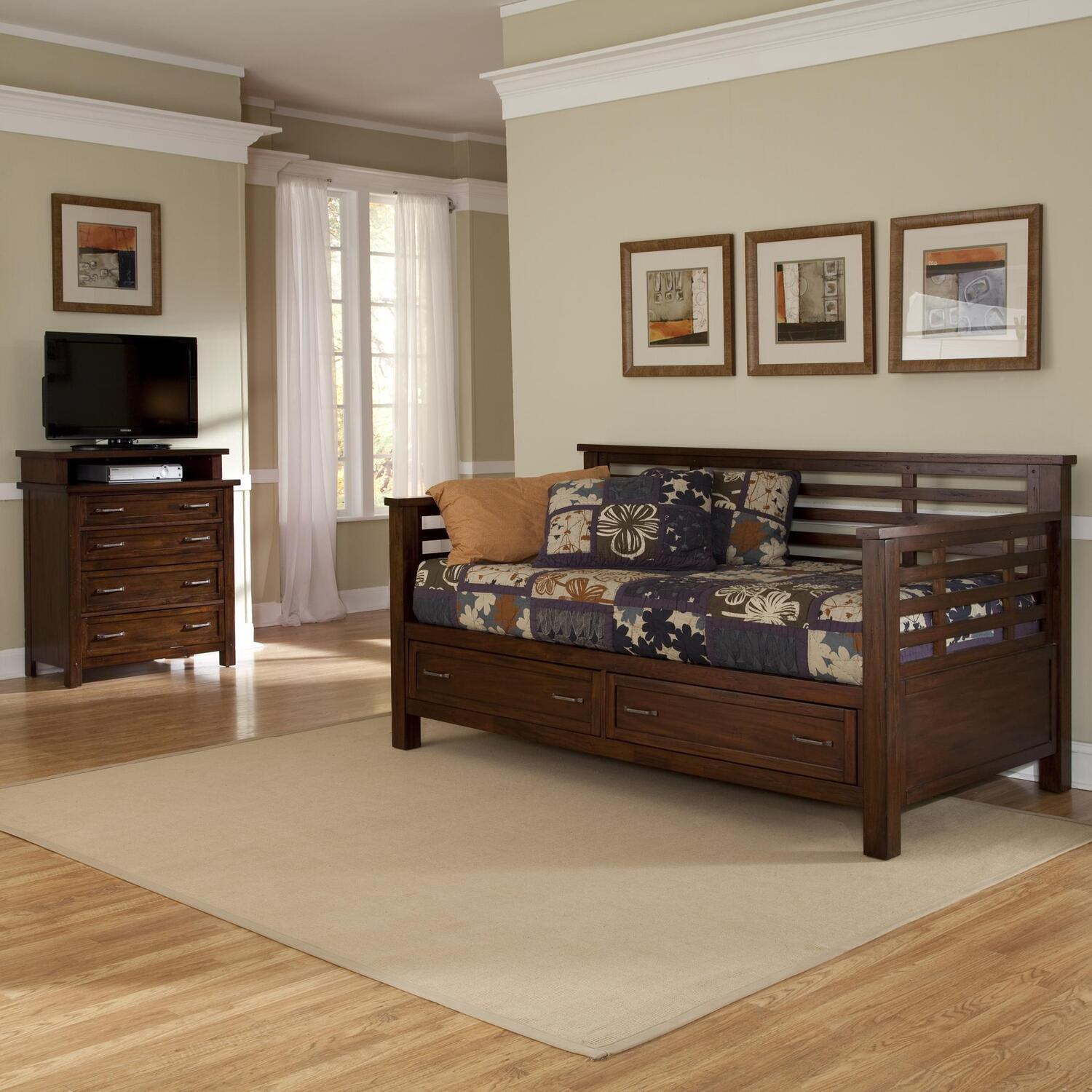 Home Styles Cabin Creek Storage Daybed And Media Chest By