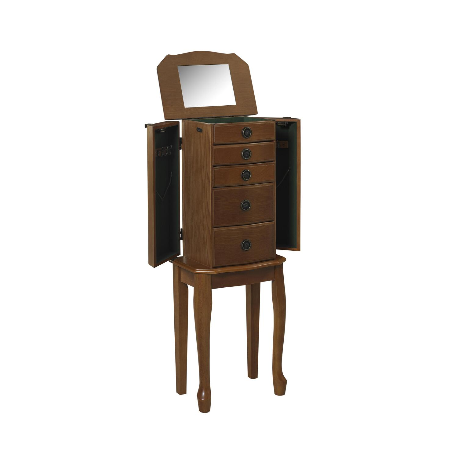 Linon Ruby Cherry Jewelry Armoire By Oj Commerce 55102chy