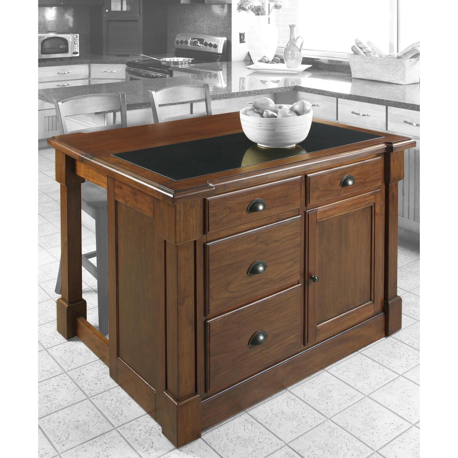 Home Styles Aspen Kitchen Island w hidden drop leaf