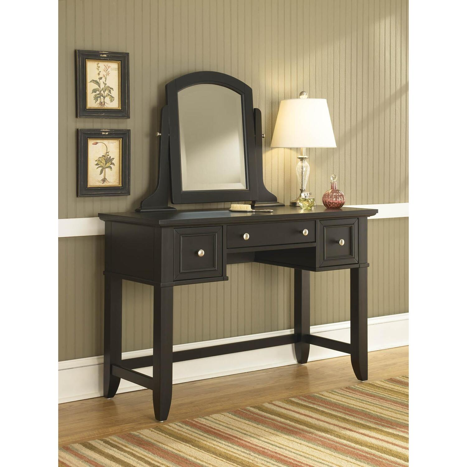 Home Styles Bedford Black Vanity Table By OJ Commerce 5531