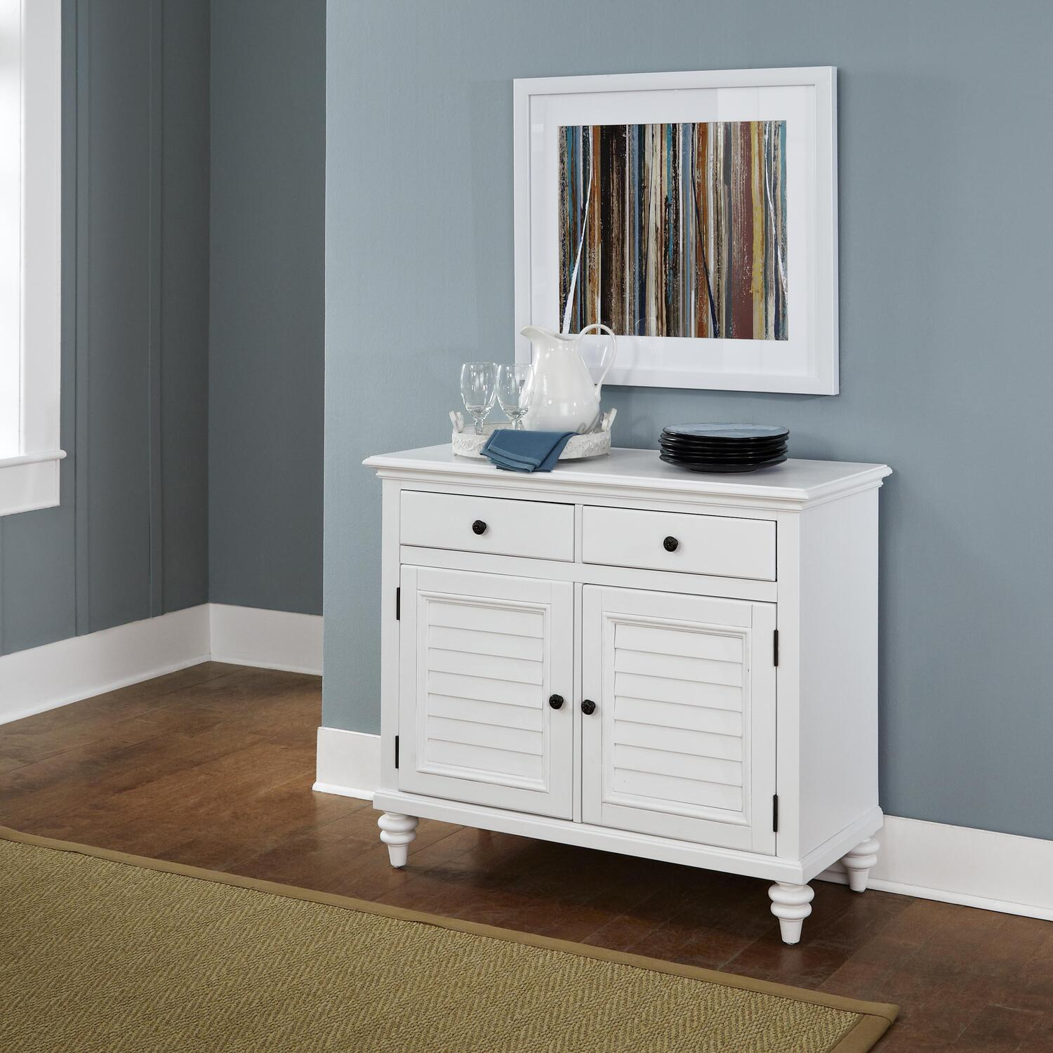 Marvelous photograph of Home Styles Bermuda Brushed White Buffet by OJ Commerce 5543 61 $661  with #624935 color and 2805x2805 pixels