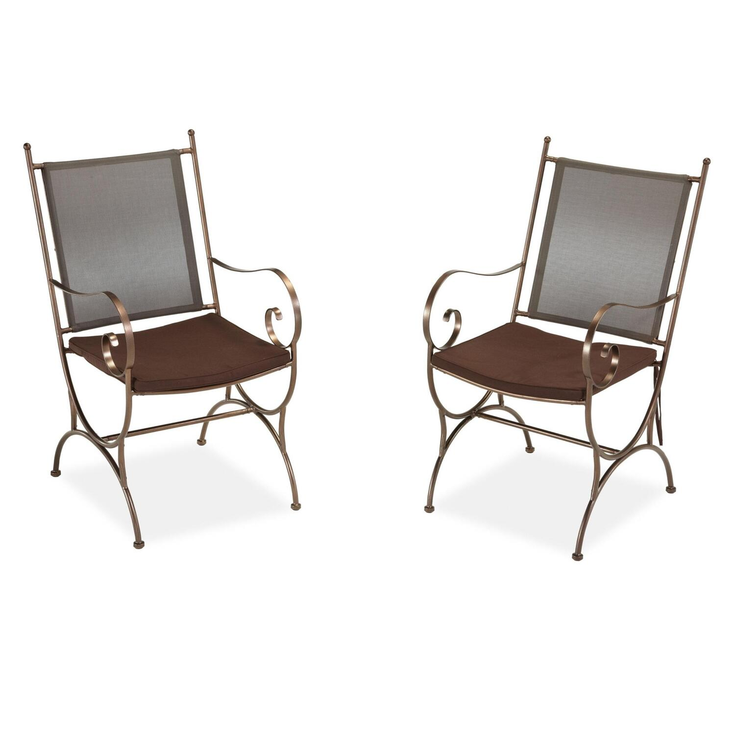 Home Styles Sundance Dining Chair Pair w/ Cushion by OJ Commerce 5608 ...