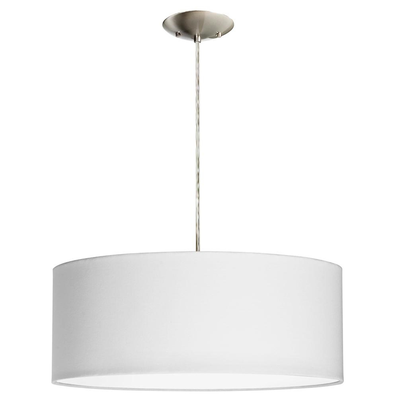 White Drum Shade Pendant Light