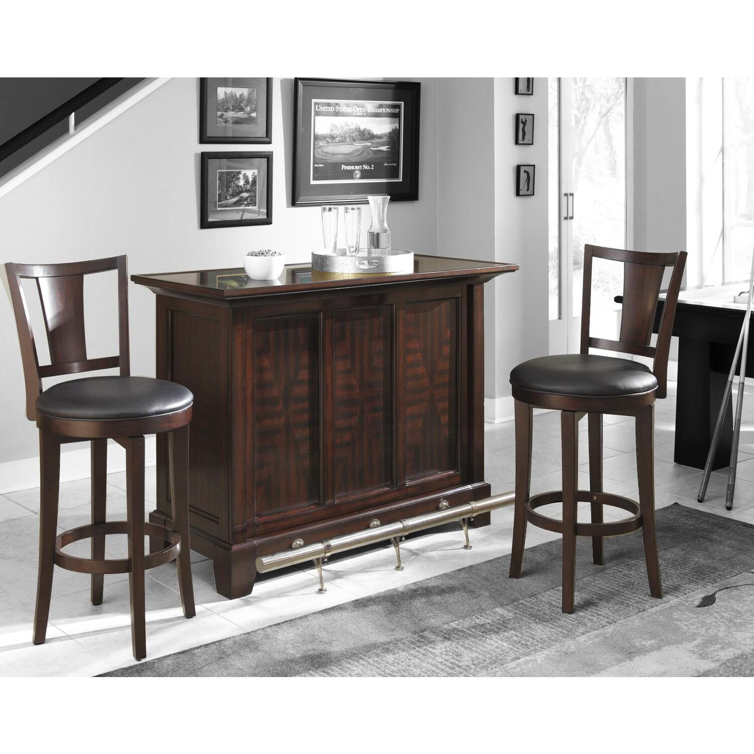 Home Styles Rio Vista 3pc Bar Set Bar Amp Two Stools