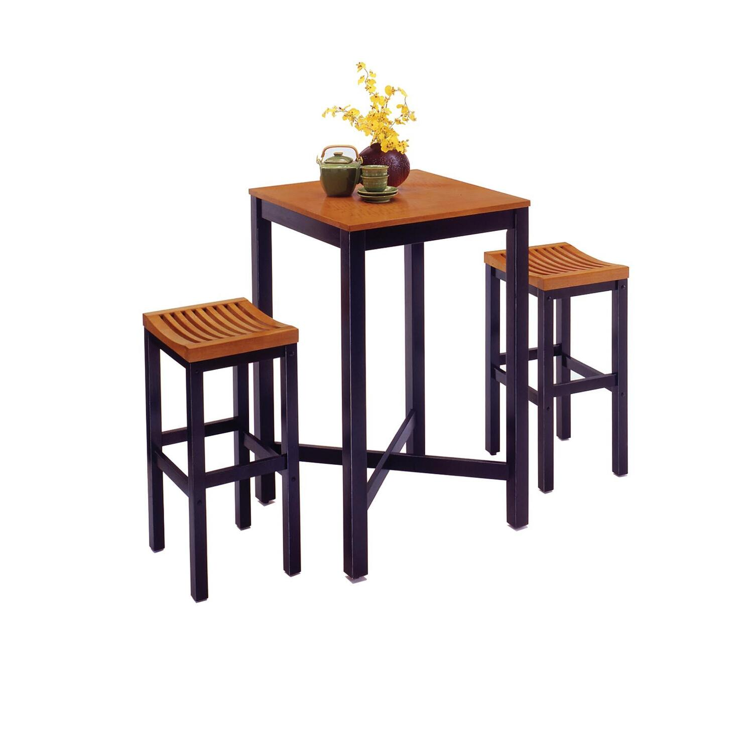 home styles bar table with veneer top bar stools by oj commerce 5983 358. Black Bedroom Furniture Sets. Home Design Ideas