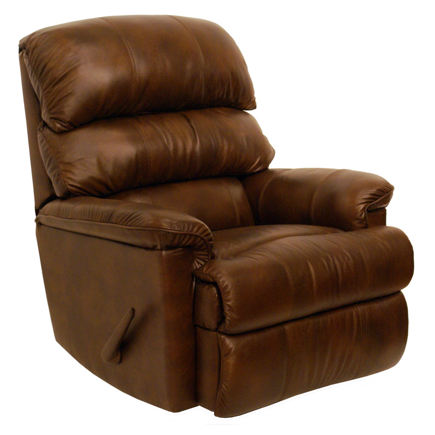 Catnapper bentley leather rocker recliner by oj commerce for Catnapper cloud nine chaise recliner
