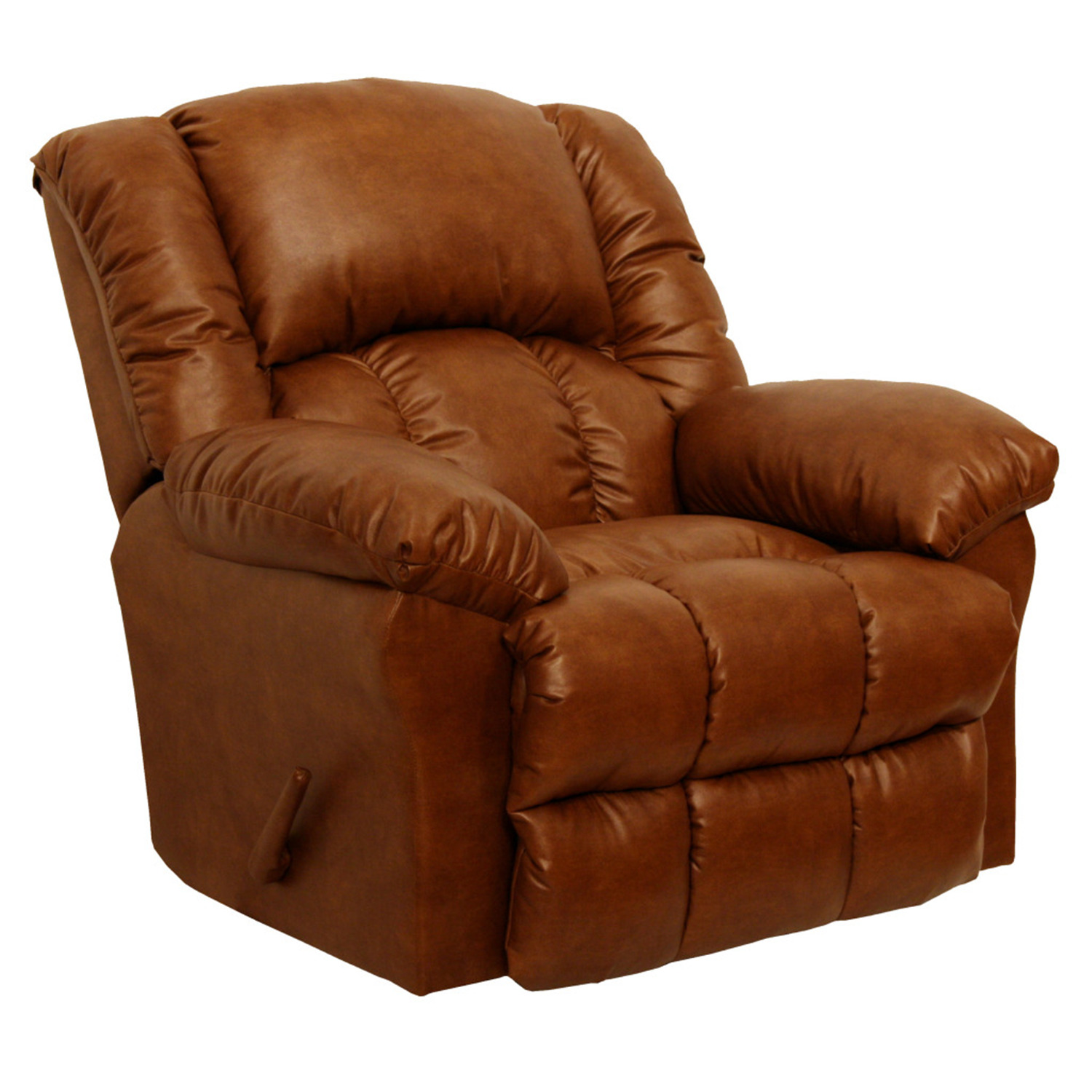 Catnapper winchester leather rocker recliner by oj for Catnapper cloud nine chaise recliner