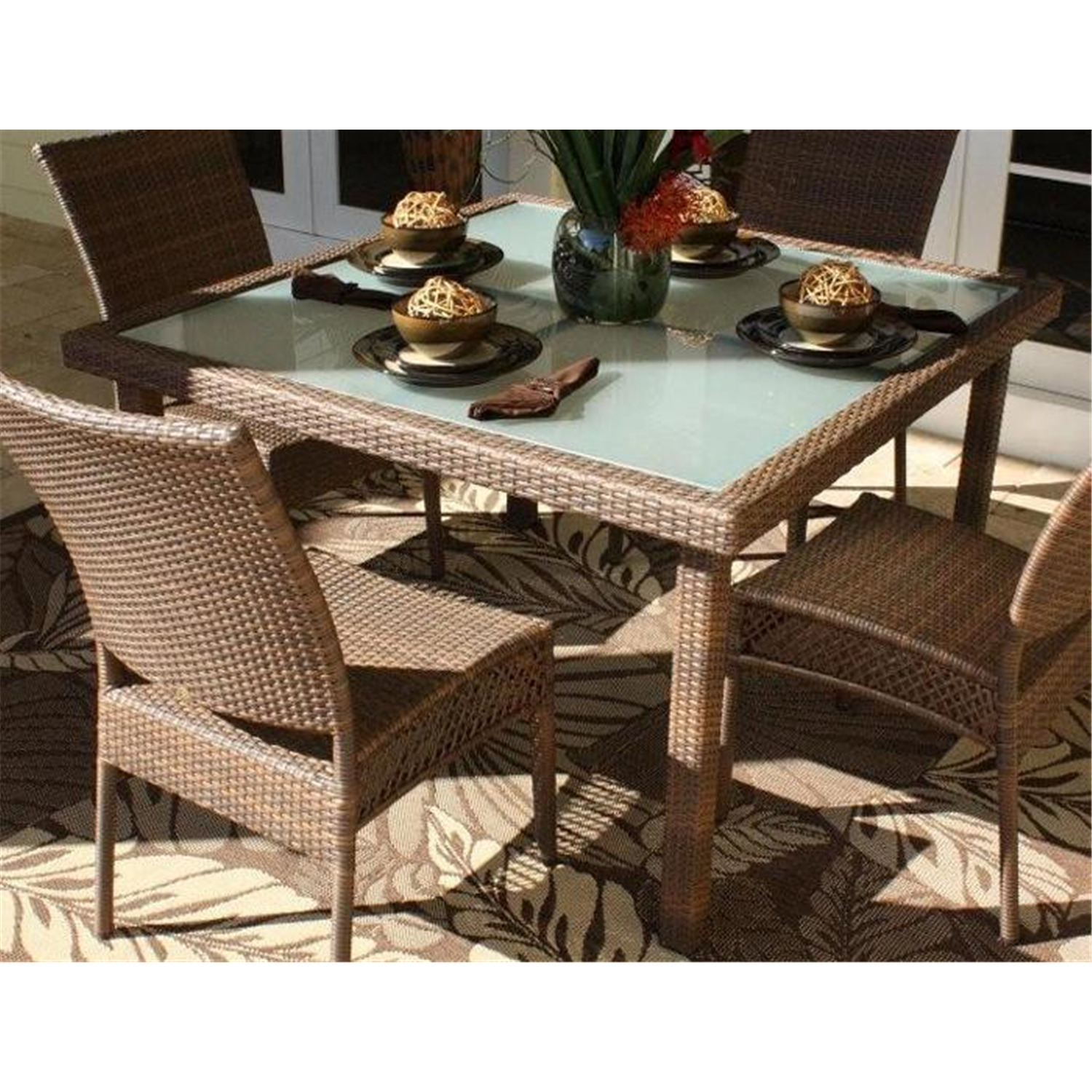 patio 48 square dining table by oj commerce 604 3392 vir. Black Bedroom Furniture Sets. Home Design Ideas