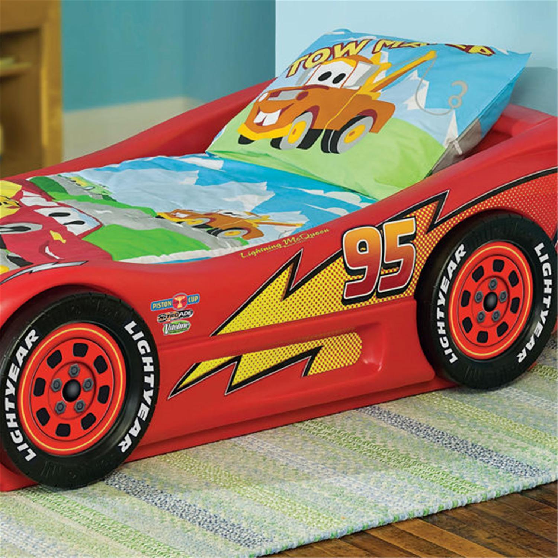 little tikes lightning mcqueen roadster toddler bed by oj. Black Bedroom Furniture Sets. Home Design Ideas