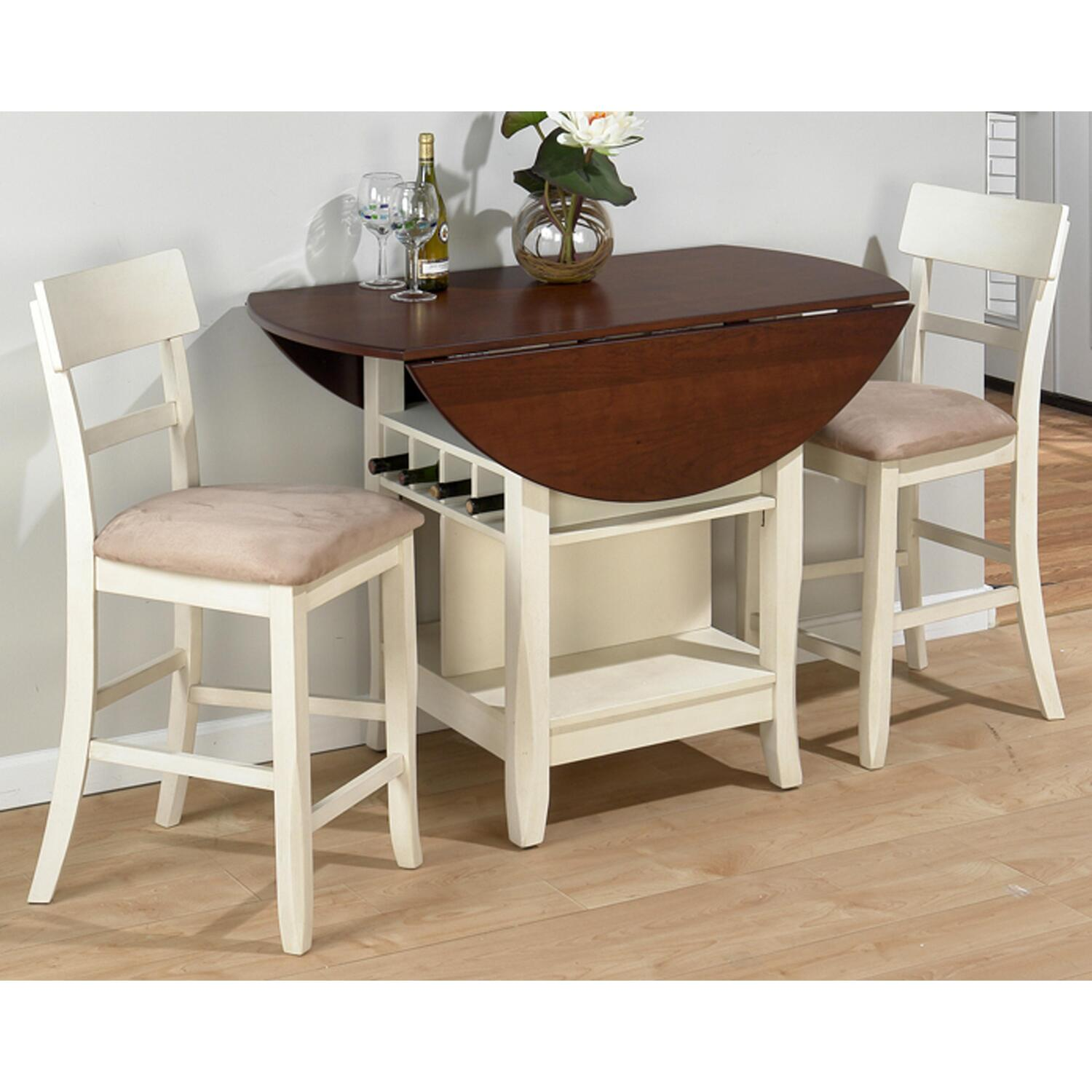 Jofran Frosted White Cherry Finished 3 Piece Dining Set