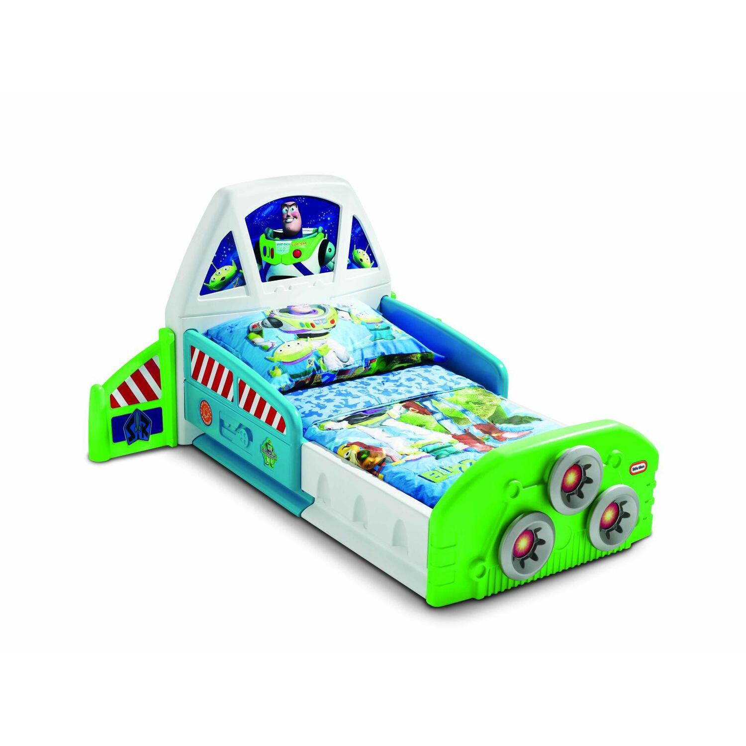 little tikes buzz lightyear spaceship toddler bed by oj