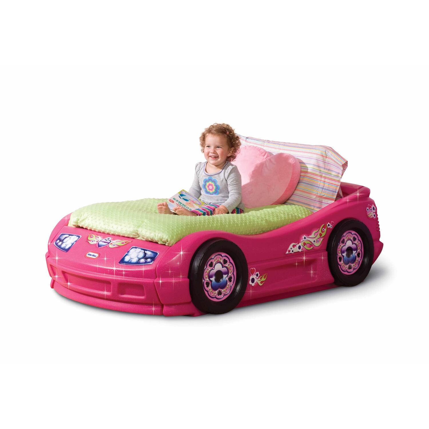 Pink Race Car Bed