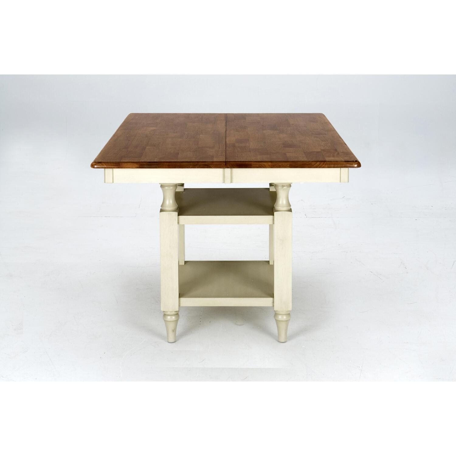 Jofran Antique Honey / Vintage White Finished Counter Height Table by ...