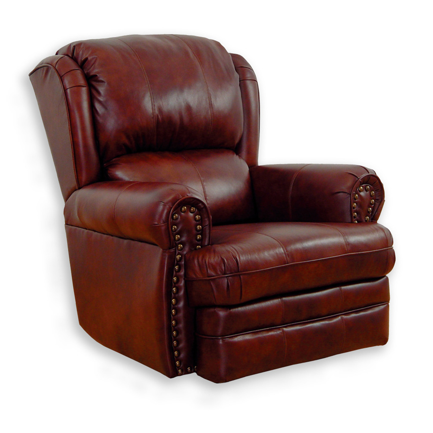 Catnapper buckingham leather rocker recliner by oj commerce Catnapper loveseat recliner