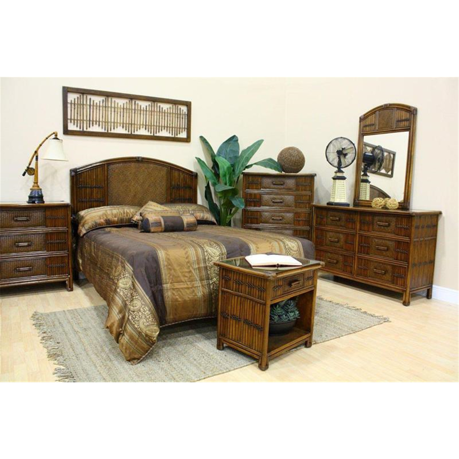 hospitality rattan polynesian bedroom set by oj commerce