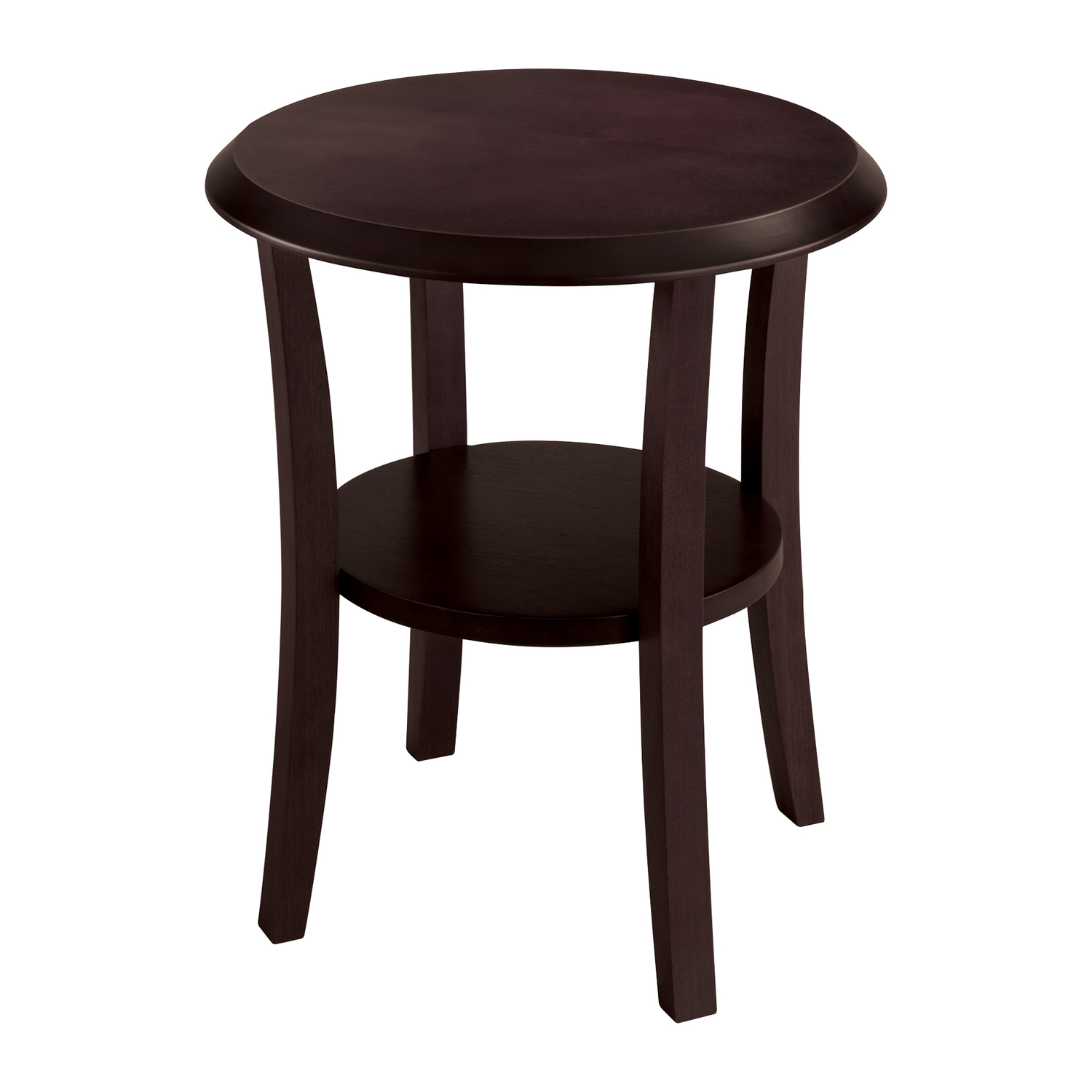 Safco Wood End Table Round By Oj Commerce