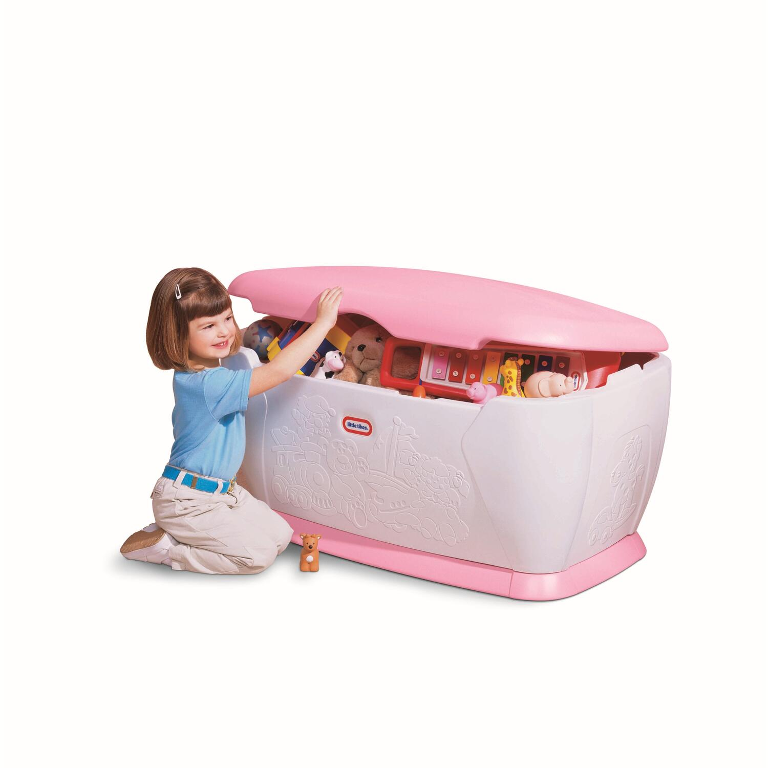 Princess Toys Box Storage Kids Girls Chest Bedroom Clothes: Little Tikes Giant Toy Chest (pink) By OJ Commerce 7906