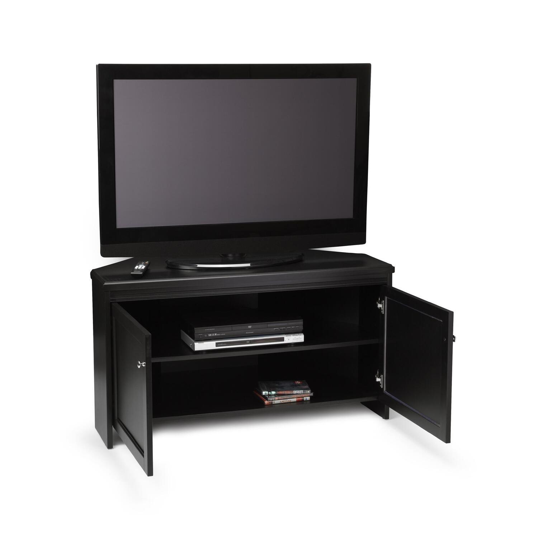 convenience concepts designs2go corner tv stand by oj commerce r6 114. Black Bedroom Furniture Sets. Home Design Ideas