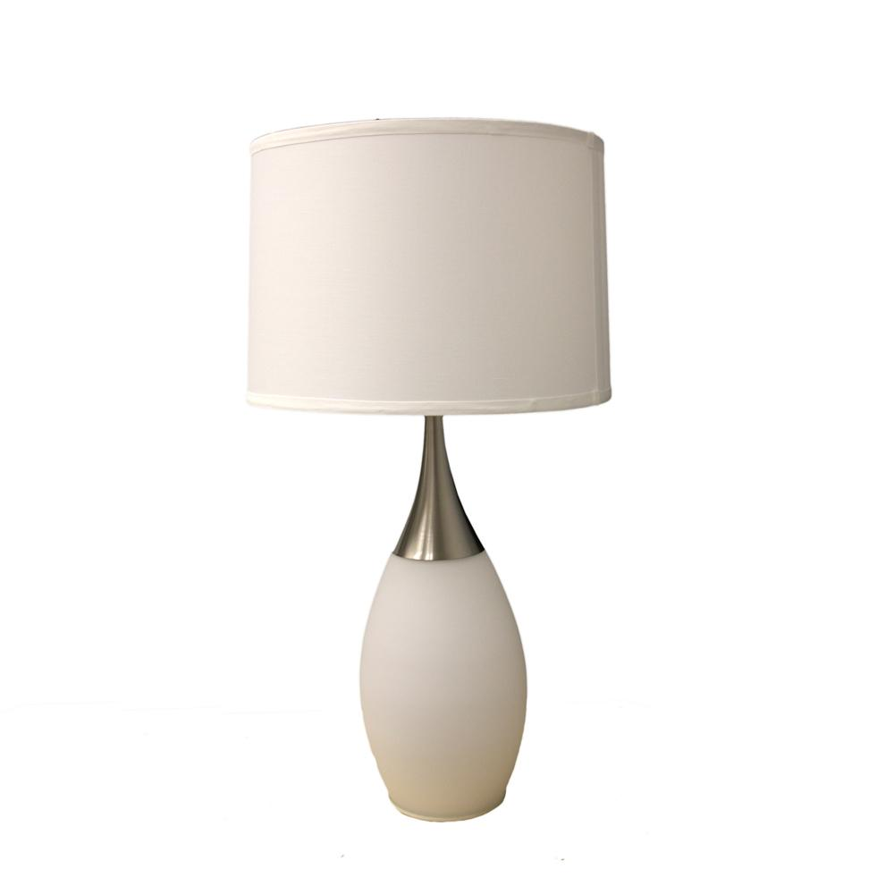 ore international 28 quot h white modern night light table lamp