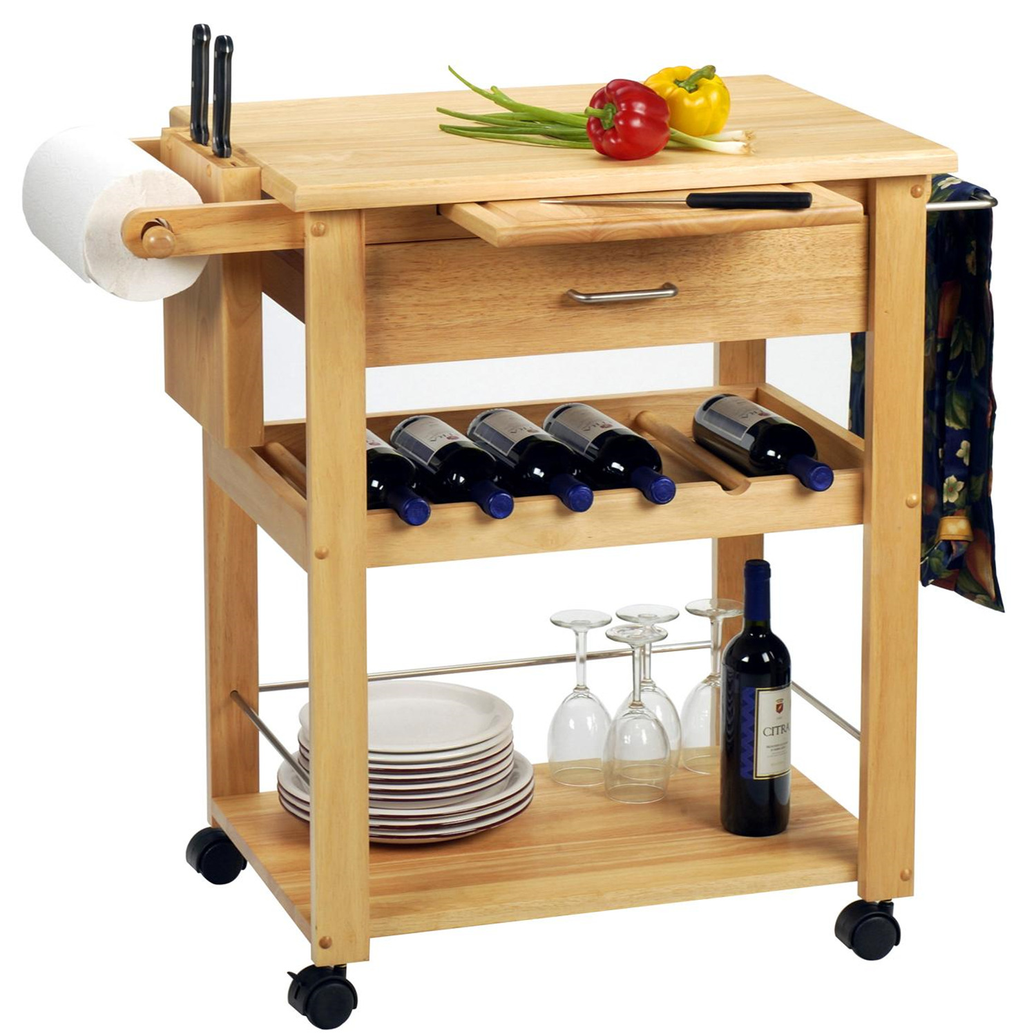 Winsome Deluxe Kitchen Cart by OJ Commerce 83634 - $252.99