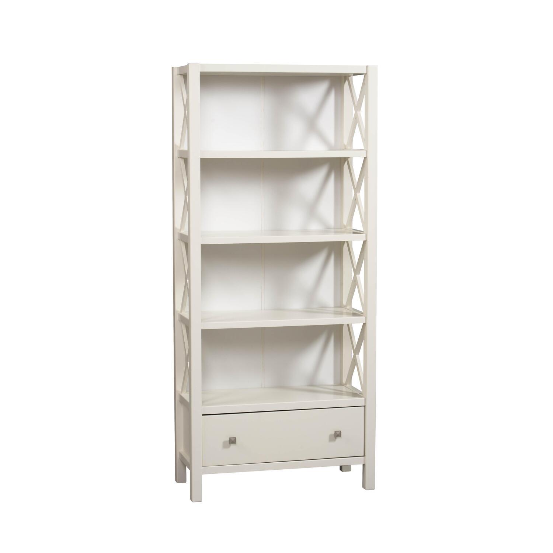 linon anna 5 shelf bookcase in white by oj commerce 86103c147 a kd u. Black Bedroom Furniture Sets. Home Design Ideas