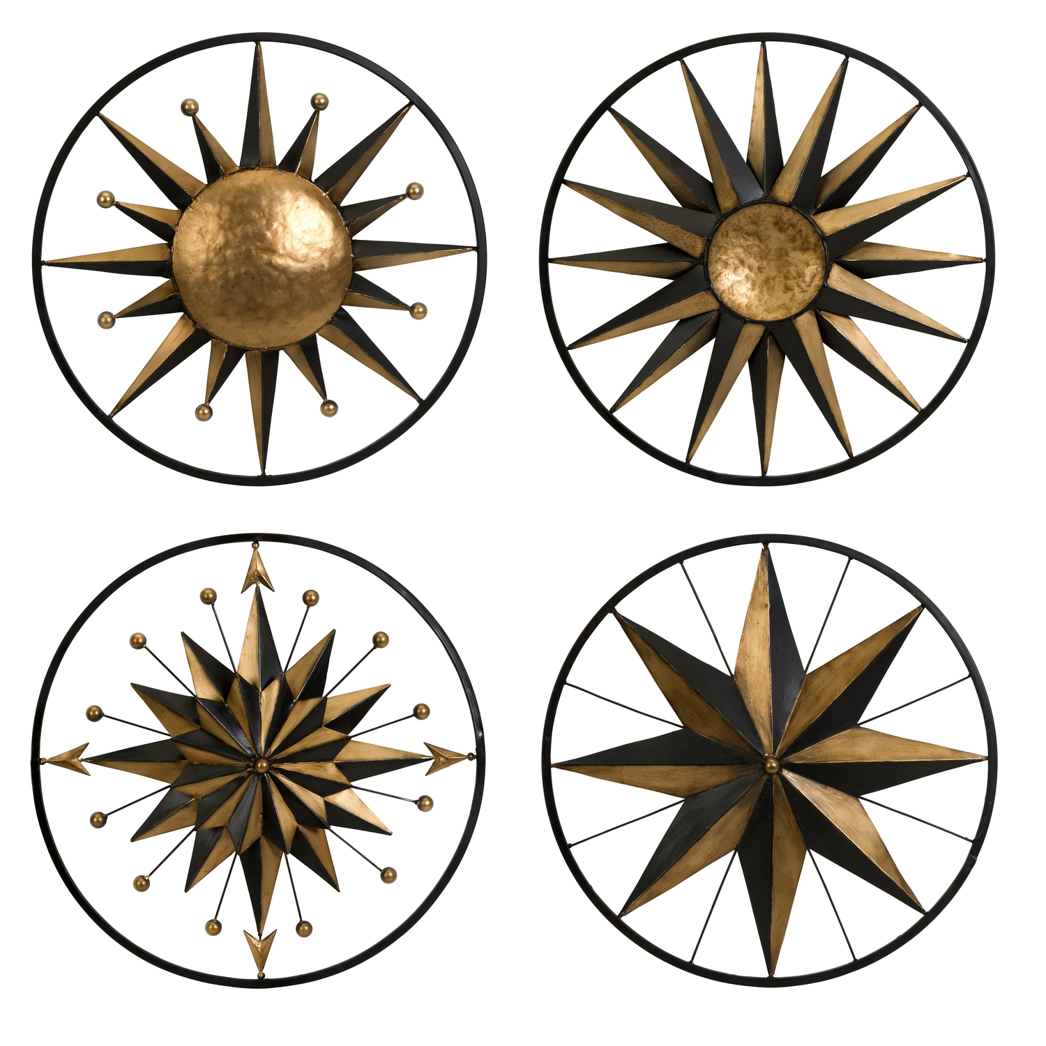 Imak Set of 4 Orion Wall Decor Accents by OJ Commerce 87041-4 ...