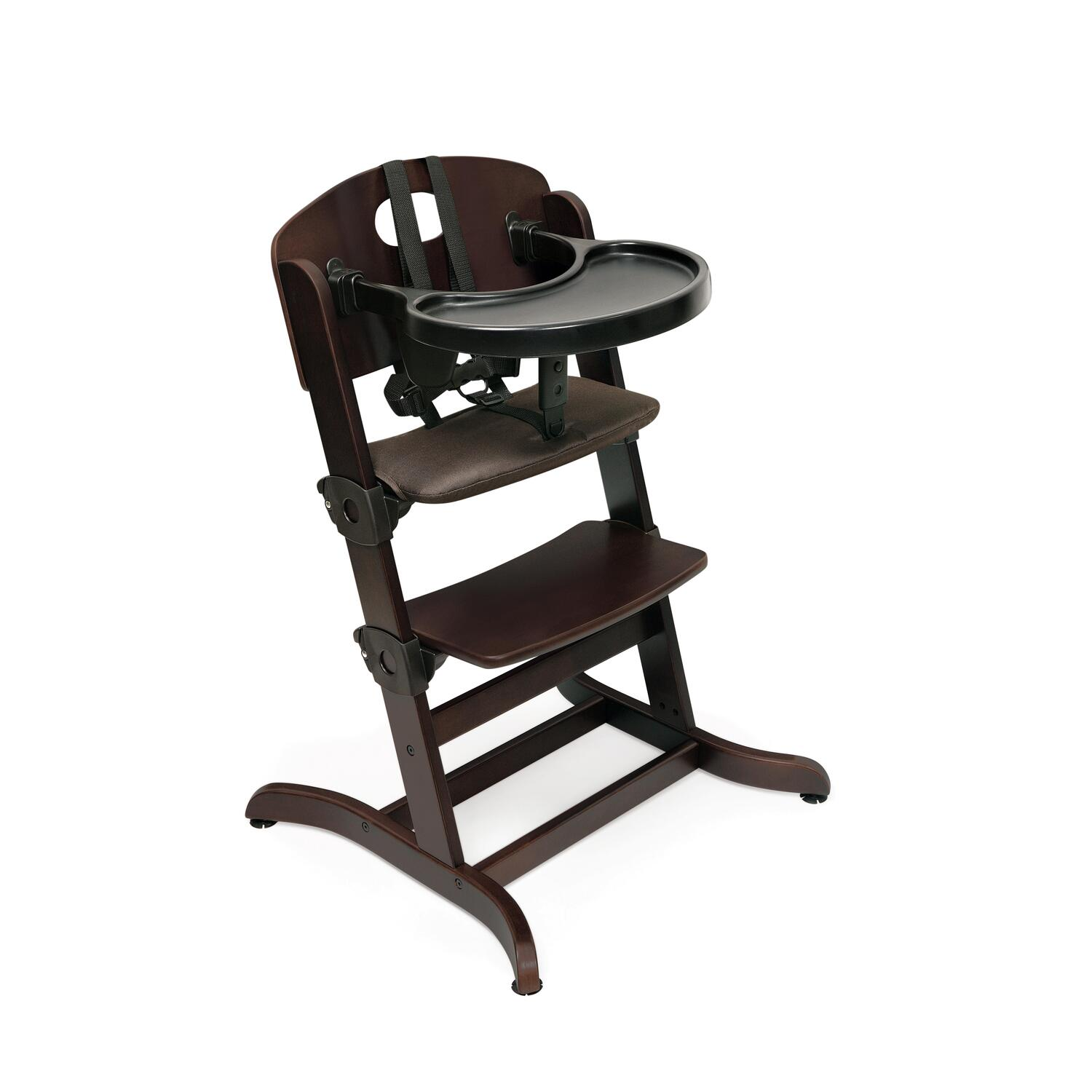 badger basket evolve wood high chair with tray by oj commerce. Black Bedroom Furniture Sets. Home Design Ideas