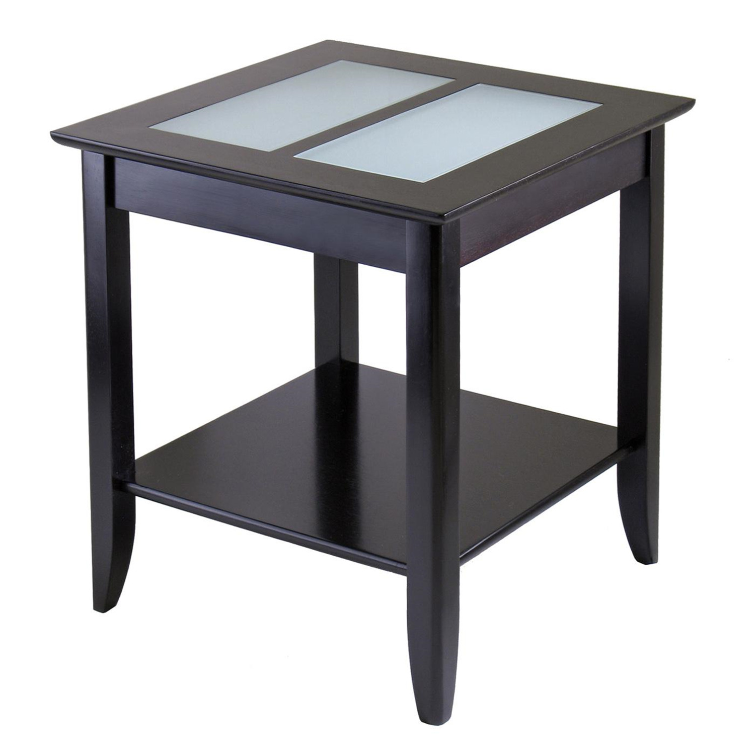 winsome syrah end table with frosted glass by oj commerce