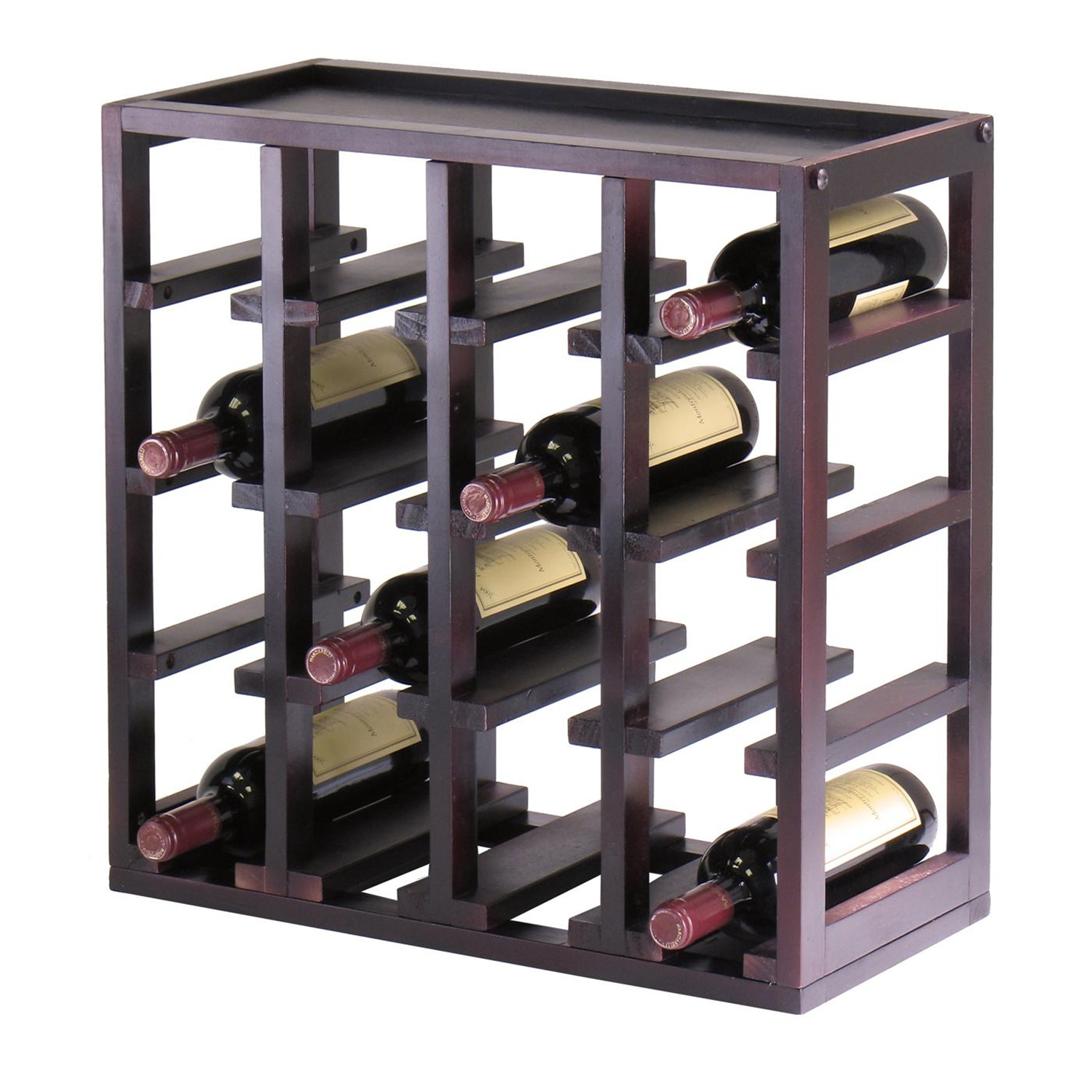 Small Exhibition Stand Alone : Winsome kingston stackable slot cube bottle wine