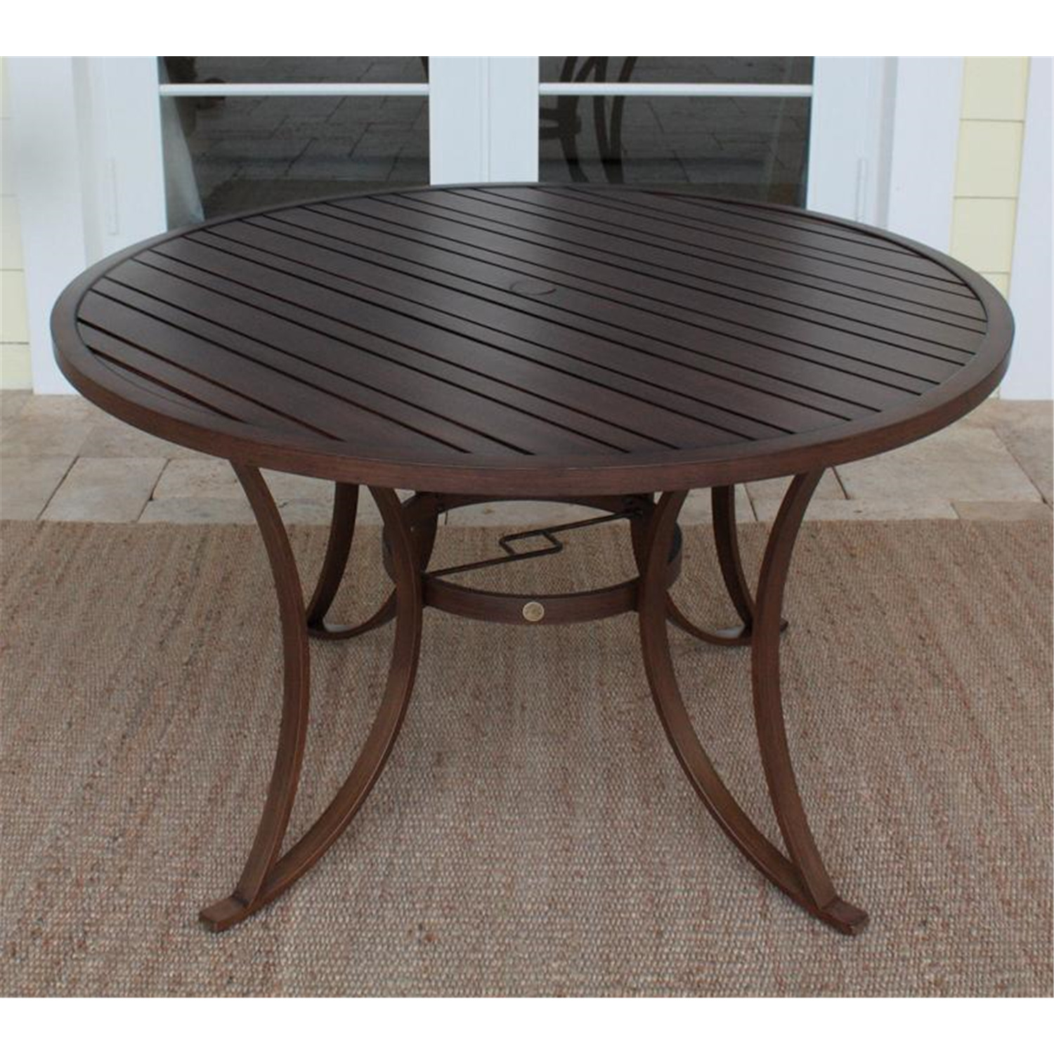 Hospitality Rattan Outdoor 48 Round Dining Table By OJ Commerce 923 316