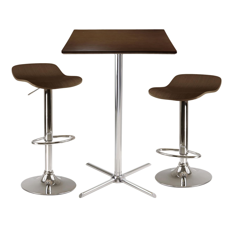 Winsome wood kallie 3 piece square pub table set by oj for 99 pub table