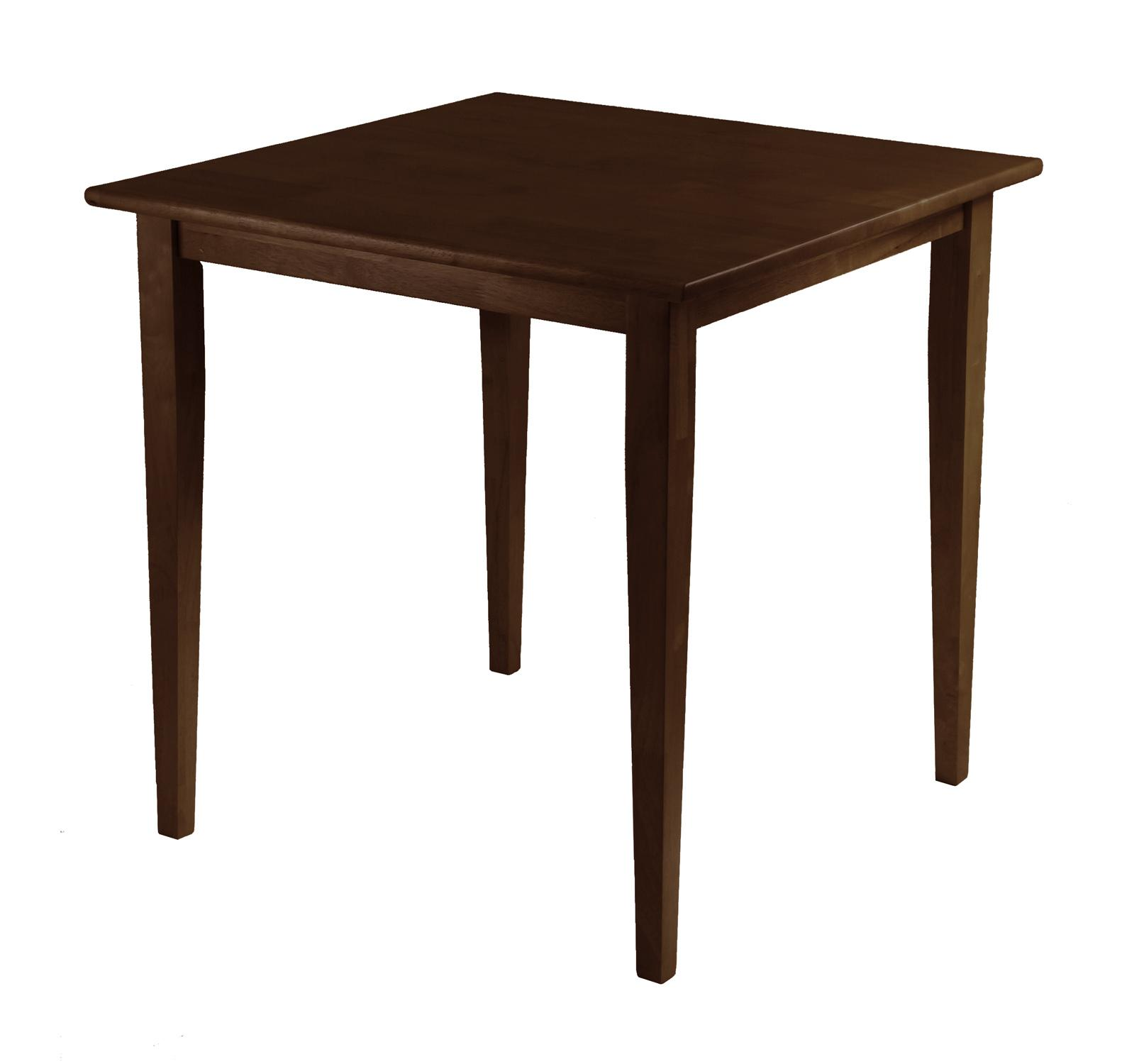 Winsome groveland square dining table shaker leg antique walnut