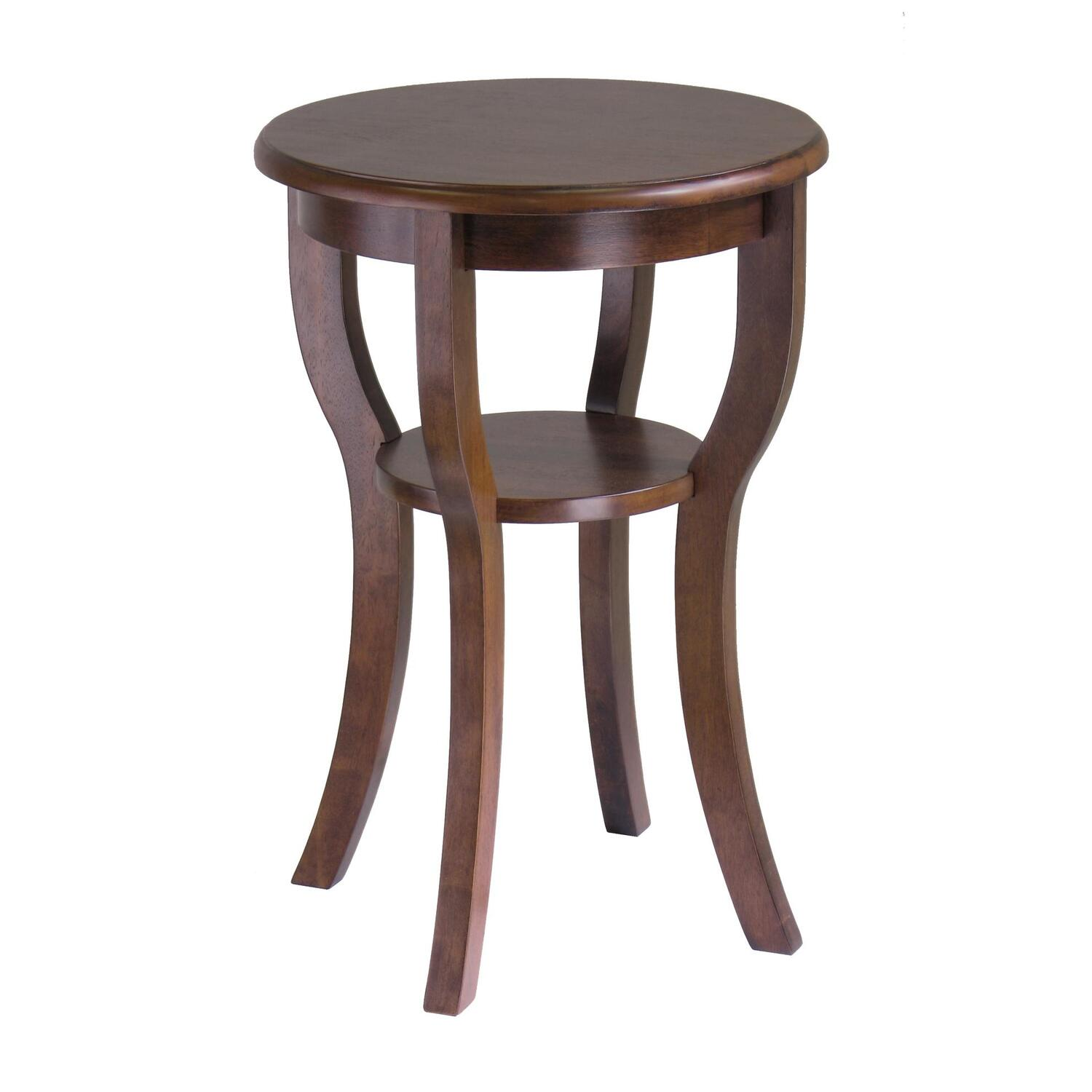 Winsome Kami Accent Round Table with curved Legs by OJ Commerce ...