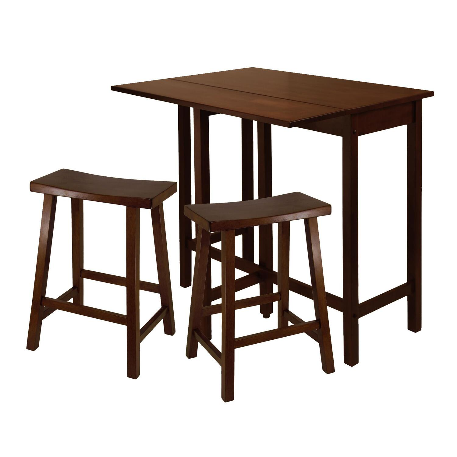 Winsome Lynnwood 3pc High Drop Leaf Table With 24 Quot Saddle