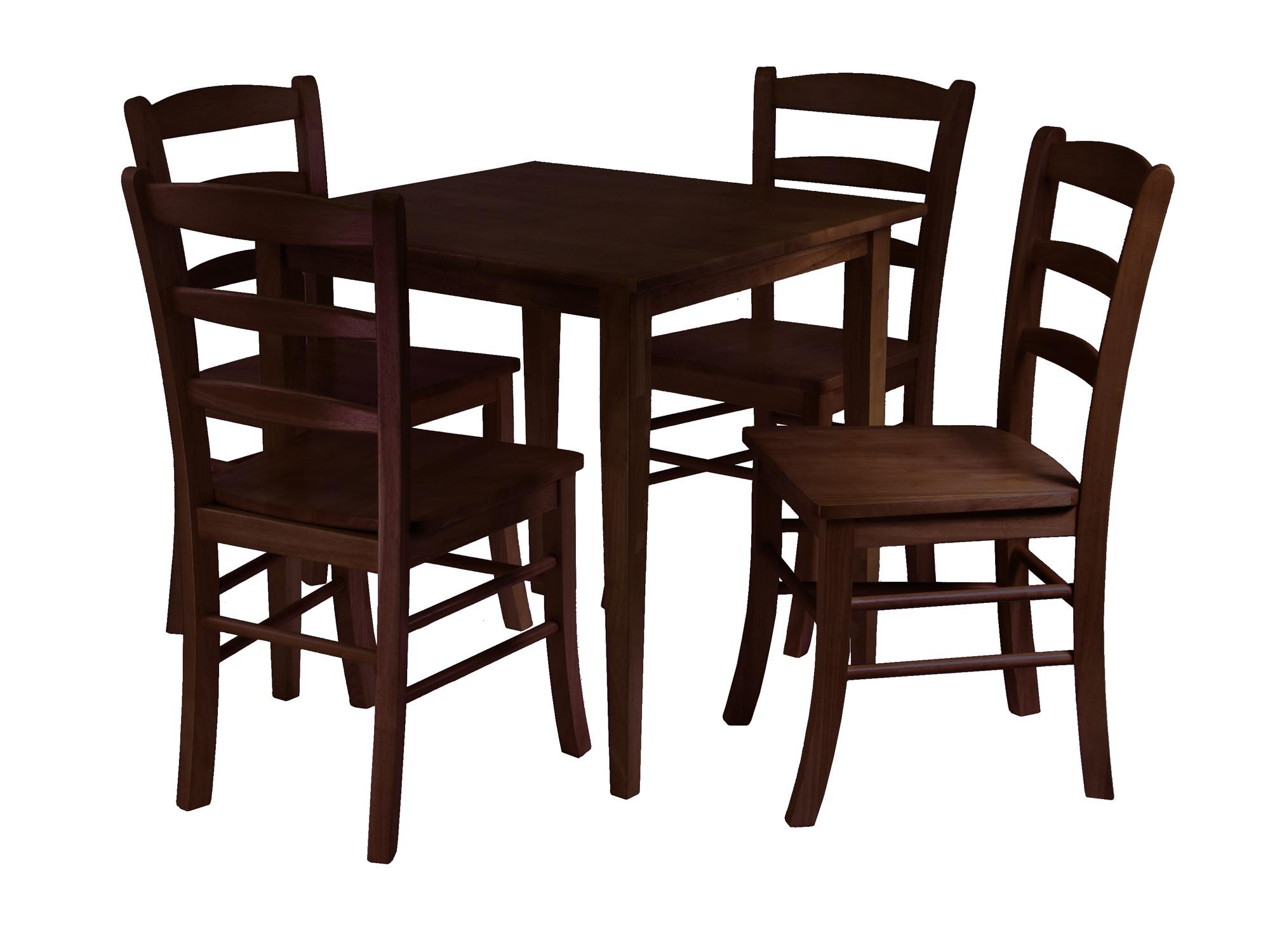 Winsome Groveland 5pc Square Dining Table With 4 Chairs By OJ Commerce
